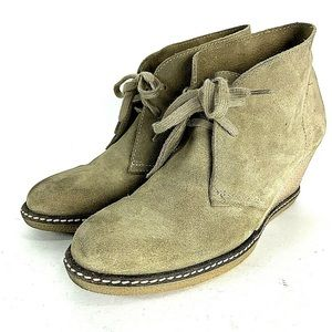 J Crew Suede Womens MacAlister Wedge Boots 8